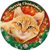 Led sticker rosse kat@KATSIGN